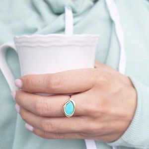 Turquoise Magnesite Wire Wrapped Ring