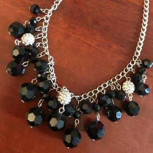 Chaps Jewelry - NWOT Black and Silver Statement Necklace