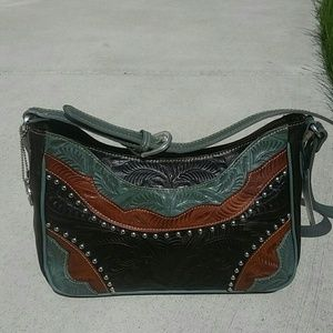 American West Handbags - American West tooled leather purse