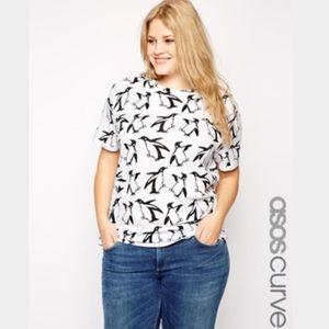 ASOS Curve Tops - ASOS Curve Penguin Print T-Shirt