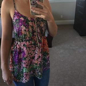 Lily White Tops - Floral tank