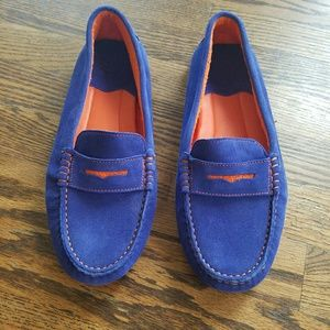 Johnston & Murphy Shoes - Johnston & Murphy Blue and Orange Loafers
