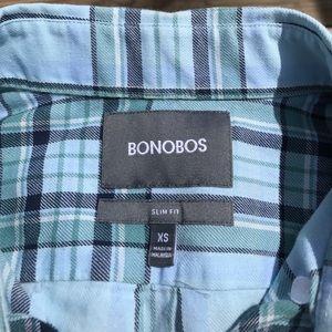 Bonobos Other - Bonobos slim fit green/blue plaid button down