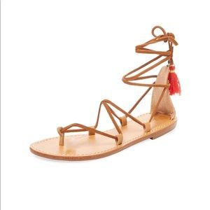 Soludos Shoes - Soludos Flat Tassel Ankle Wrap Sandals