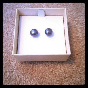 Honora Jewelry - Cultured Black Pearl Earrings