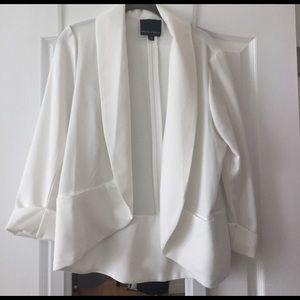 Jackets & Blazers - White shawl collar lightweight blazer