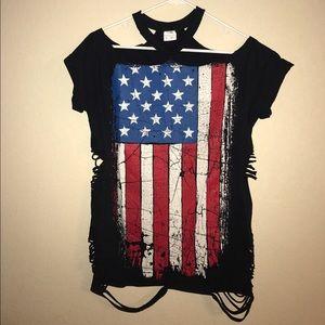 Yeezy Dresses & Skirts - Distressed American Flag Mini Dress