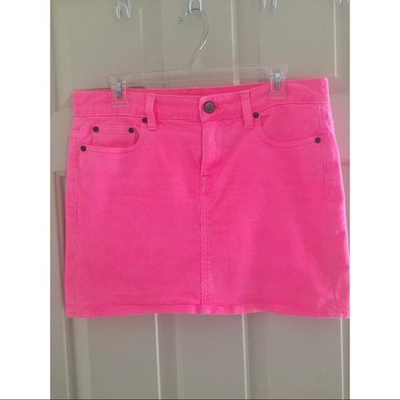 6742e74cad J. Crew Dresses & Skirts - J. Crew hot pink denim skirt