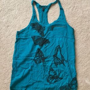 blackpoppy Tops - 💰⬇️ Sketched Butterfly Tank