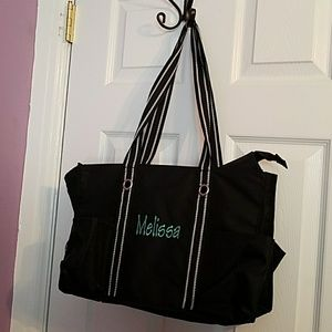 Thirty One Handbags - Thirty One TOTE Embroidered with Melissa