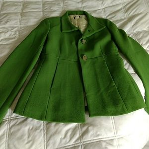 Adorable green j. Crew coat NWOT