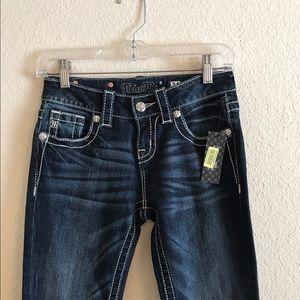 Miss Me Denim - NWT MISS ME womens Mid Rise Skinny Dark Jeans 24