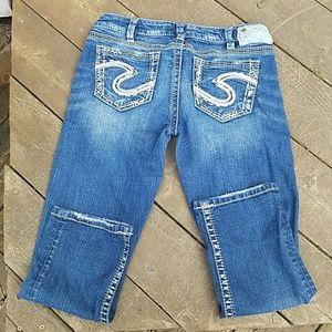 "Silver Jeans Pants - Silver Capris ""Tuesday Low Capri"""