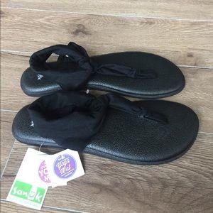Sanuk Shoes - Sanuk Sling Ella Black size 10