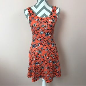 Divided Dresses & Skirts - Divided by H&M Orange Stretchy Floral Dress Size 6