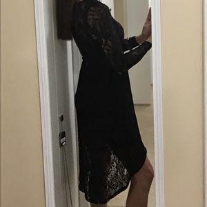 Dresses & Skirts - Black lace dress. Built in slip!