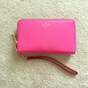 Pink Kate Spade Wallet/Wristlet
