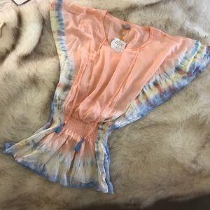 Tiare Hawaii Dresses & Skirts - NWT- Tiare Hawaii Tie-Dye Dress Cover-Up