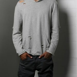 Other - Hoodie ripped distressed