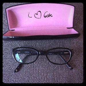 bebe Accessories - Bebe eyeglasses black with rhinestones