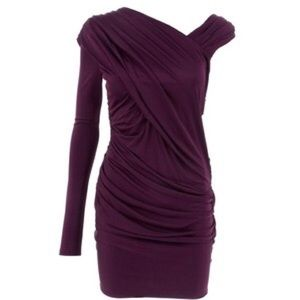 Alexander Wang Dresses & Skirts - Alexander Wang Assymetrical Goddess Dress/Eggplant