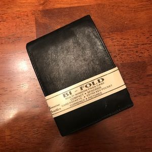 Other - Black genuine leather bifold