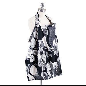Bebe Au Lait Accessories - Nursing cover, black and white