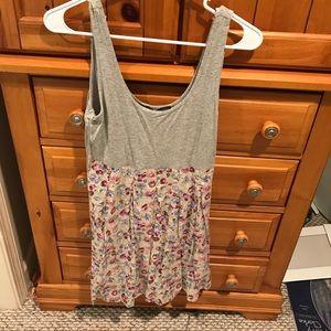 Topshop PETITE Dresses & Skirts - Top shop Petite 8 Tank bubbled dress floral