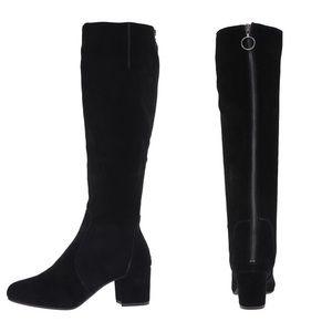New Steve Madden Black Suede Zip Up Boots