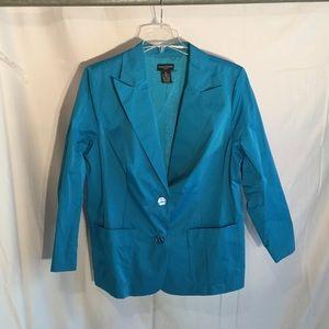 sutton studio  Jackets & Blazers - Turquoise light weight jacket 22w NWOT