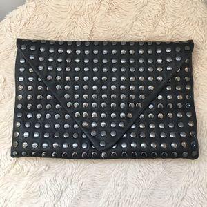 ZARA Black Studs Faux Leather Clutch