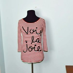 J. Crew Tops - J. Crew Red Striped French Top