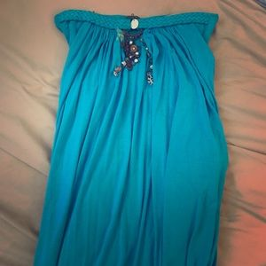 Sky Dresses & Skirts - Beautiful turquoise strapless maxi!