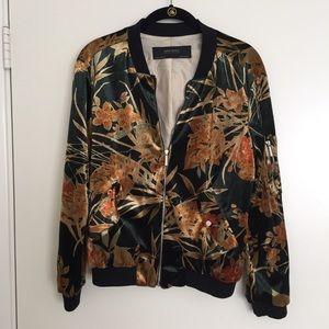 Zara Velvet Bomber Jacket