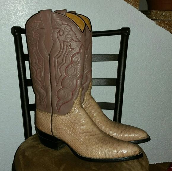 Mens Handmade Snakeskin Cowboy Boots