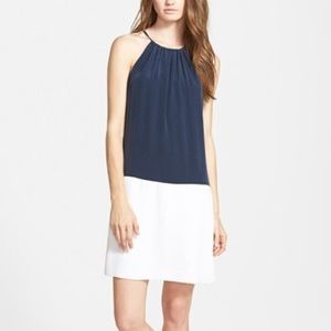 Amour Vert Dresses & Skirts - FIRM {amour vert} Silk Colorblocked Halter Dress