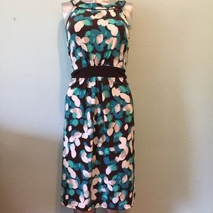Leaf print multicolor dress