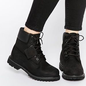 New Timberland Premium Black Lace Up Boots