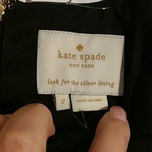 LBD Kate Spade Black Satin Ruffle Dress