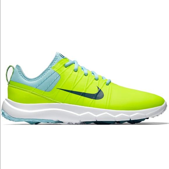 ebdf9bc985f5 NWOB Nike Ladies FI Impact 2 Golf Shoes Volt Teal