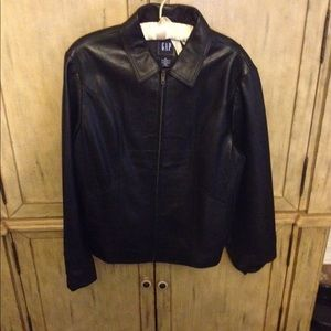 Jackets & Blazers - Gap leather jacket