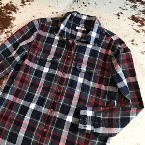 Equipment Tops - Equipment plaid flannel top L