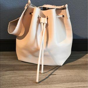 Zara faux leather bucket bag