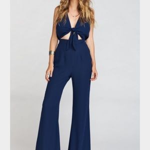 Show Me Your MuMu Pants - NEW Mumu Jumpsuit Jackson Navy Blue Pantsuit
