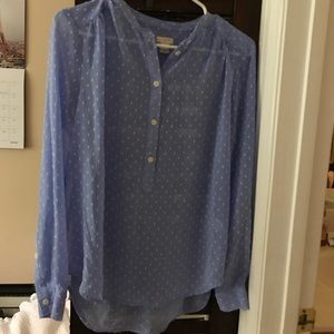 J. Crew Factory blue blouse
