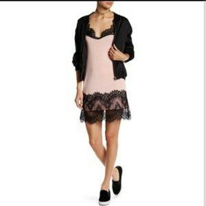 Blush and Lace Slip Dress