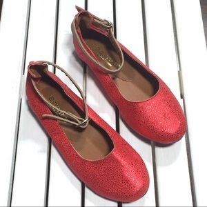 LC Bottier Shoes - LC Bottier Red Flats Euro Size