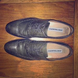 Johnston & Murphy Other - Men's Dark Green/Gray 100% Leather Dress Shoes