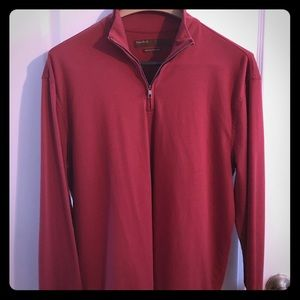 Perry Ellis Other - Long Sleeved Perry Ellis Zip Neck T-Shirt