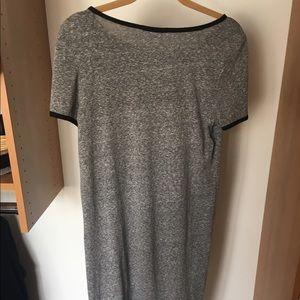 Mango Dresses - Mango heather gray t-shirt dress with black trim